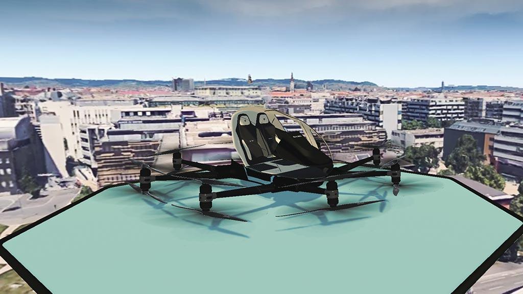 drone taxi VR