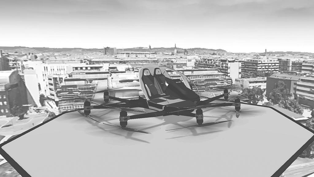 Virtual Drone Experience VR Ehang