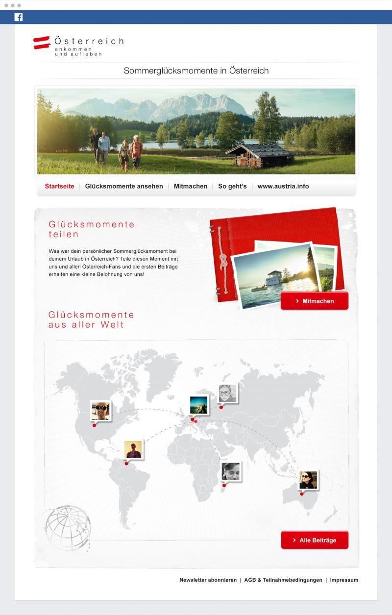 österreich werbung sommerglück kampagne facebook