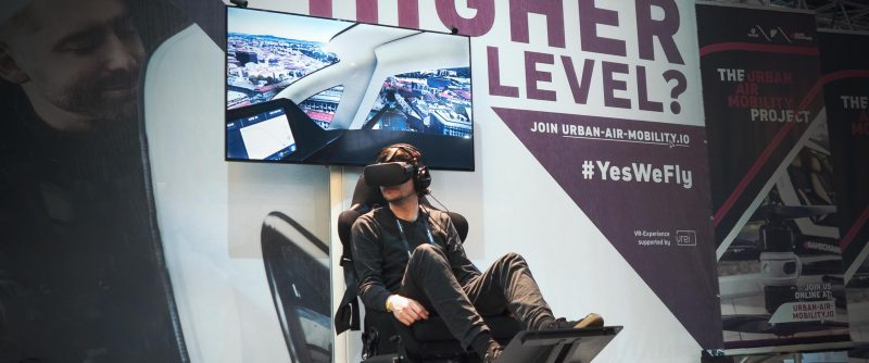 drone taxi VR app