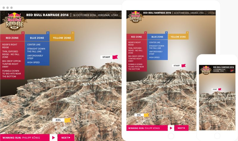 red bull rampage browser app